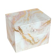 Marble Effect Jewellery Box 16cm