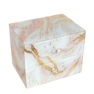 Marble Effect Jewellery Box 16cm