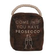 Prosecco Cube Door Stop Brown 16cm