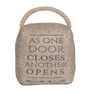 As One Door Closes Cube Door Stop Cream 16cm