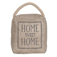 Home Sweet Home Cube Door Stop Cream 16cm