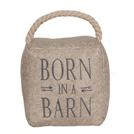 Born in a Barn Cube Door Stop Cream 16cm