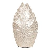 Capiz Leaf Vase White 51cm