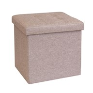 Foldable Ottoman Light Brown 38cm