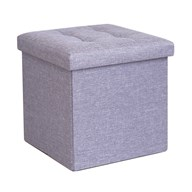 Foldable Ottoman Light Blue 38cm