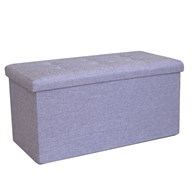 Foldable Ottoman Light Blue 76cm