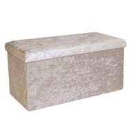 Foldable Ottoman Cream 76cm
