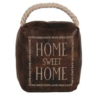 Home Sweet Home Cube Door Stop Brown 16cm