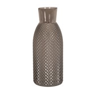 Embossed Bottle Vase Grey 31cm
