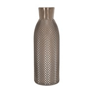 Embossed Bottle Vase Grey 40cm