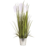 Floral Grass in Silver Pot 100cm