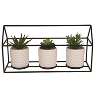 Metal Triple Plant Pot Set 40cm