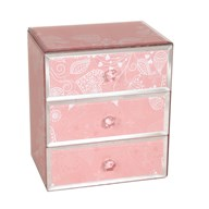 Jewellery Box Pink Heart 18cm