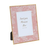Photoframe Pink Heart 5x7""