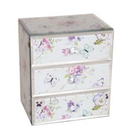 Jewellery Box Butterfly Floral 18cm