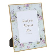 Photoframe Butterfly Floral 5x7""
