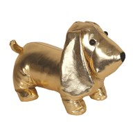 Dog Doorstop Gold 23cm