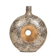 Eggshell Hole Vase Gold 30cm