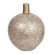 Eggshell Squat Vase Gold 32cm
