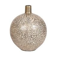 Eggshell Squat Vase Gold 28cm
