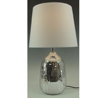 Crackled Lamp Silver 37.5cm