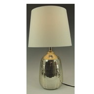 Crackled Lamp Gold 37.5cm