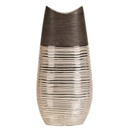 Brown & Gold Oval Vase 36cm
