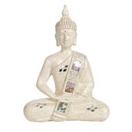 Cream Meditating Buddha 28.5cm