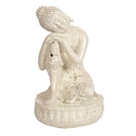 Cream Resting Buddha 23cm