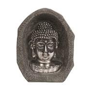 Silver Buddha Head 23cm
