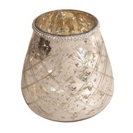 Etched Round Tealight Holder 16cm
