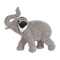 Beaded Elephant Silver 13cm