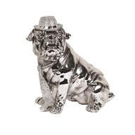 Sitting Bulldog Hat & Tie 31cm
