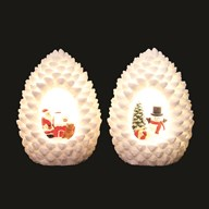 LED Christmas Pinecone 15.5cm 3 Assorted