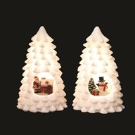 LED Christmas Tree 22cm 3 Assorted