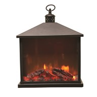 LED Fireplace Lantern 30 x 35.5cm