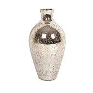 Mercury Crackled Temple Vase 31cm