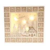 LED Advent Calendar 33x31cm