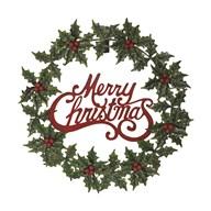 Merry Christmas Wreath 52cm