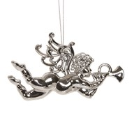 Cherub Tree Decoration 13cm Silver