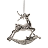 Reindeer Tree Decoration 11cm Silver
