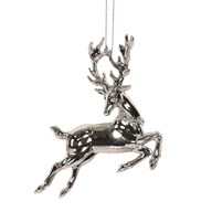 Reindeer Tree Decoration 12cm Silver