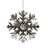 Snowflake Tree Decoration 11cm Silver