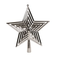 Star Tree Topper 23cm Silver