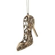 Shoe Tree Decoration 13cm Gold