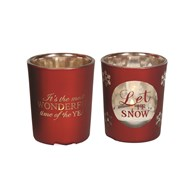 Christmas Tealight Holder 6.5cm 2 Assorted