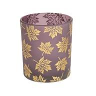 Purple Leaf Tealight Holder 10cm