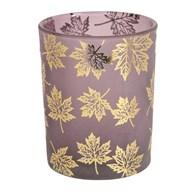 Purple Leaf Tealight Holder 12.5cm