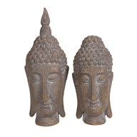 Buddha Head 22.5cm 2 Assorted