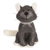 Grey Cat Doorstop 28cm